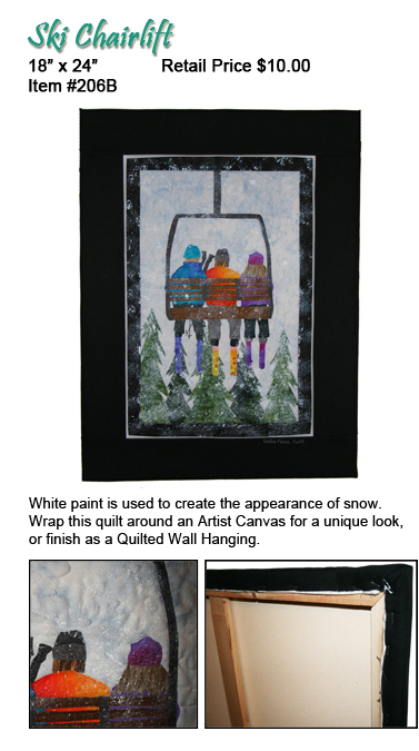 Ski Chairlift Quilt Wall Hanging Pattern